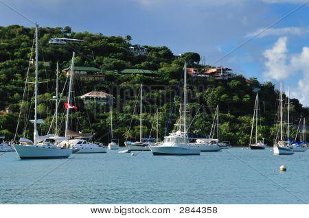 Boats At St. John, U.S. Virgin Islands