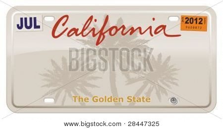 Placas de California.