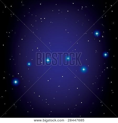 Vector Constellation Of Big Dipper