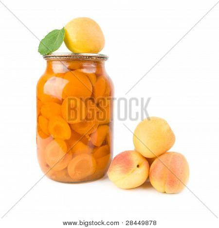 Apricots And Apricot Jam.