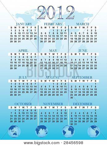 2012 Global Calendar