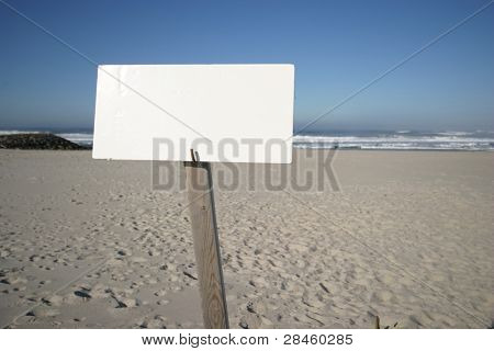 beach publicity in blue sky