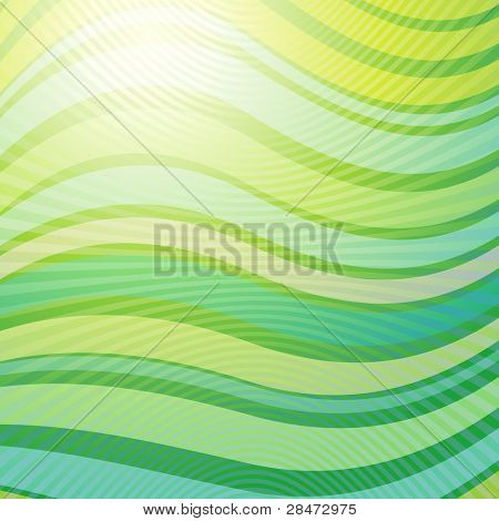 green wave abstract light background raster. Vector copy search in my portfolio