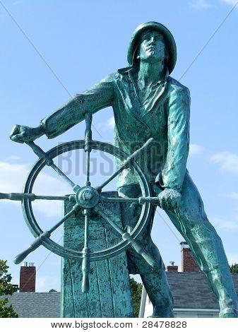Ship Mate Statue In Maine.
