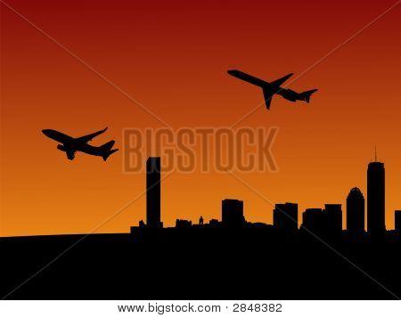 Planes Leaving Boston