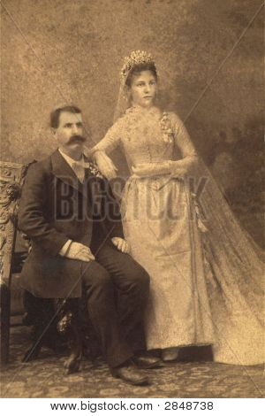 Vintage 1901 Wedding Photo