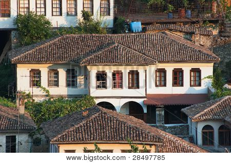 Berat: house ottoman style in old village, Albania