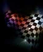 image of motocross  - Dark Checkered Background - JPG