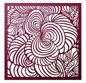 Vector Laser Cut Square Panel. Abstract Pattern Template For Decorative Panel. Template For Interior poster