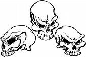 pic of skull crossbones  - Group of 3 Graphic Vector Skull Images - JPG