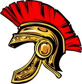 stock photo of spartan  - Vector Graphic of a Greek Spartan or Trojan Helmet - JPG