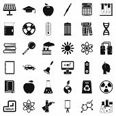 Good Education Icons Set. Simple Style Of 36 Good Education Icons For Web Isolated On White Backgrou poster