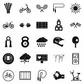 Cycling Icons Set. Simple Set Of 25 Cycling Icons For Web Isolated On White Background poster