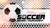 Soccer Scoreboard Poster Design Vector. Football Ball Design Concept. Design For Sport Bar Promotion poster