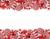 stock photo of lolli  - Frame made of red and white candies - JPG