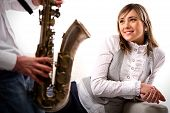 Man Plays The Saxophone For Lovely Girlfriend