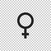 Female Gender Symbol Icon Isolated On Transparent Background. Venus Symbol. The Symbol For A Female  poster