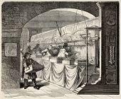 foto of gobelin  - Gobelins Manufactory old illustration - JPG
