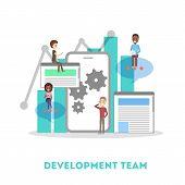 App Development Web Banner. Support And Development Team poster