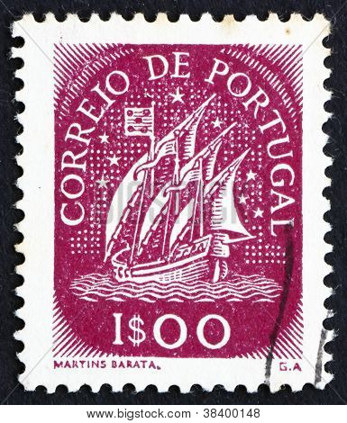 Postage stamp Portugal 1943 Ancient Sailing Vessel