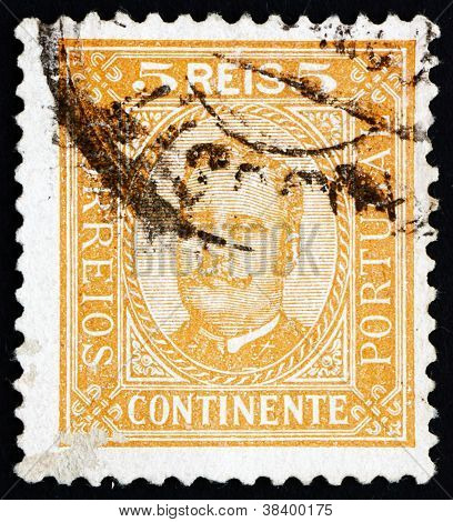 Postage stamp Portugal 1892 King Carlos, King of Portugal