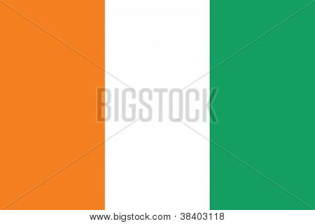 Flag of Cote d Ivoire -Ivory Coast