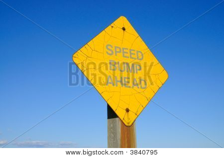Old Speed Bump Sign