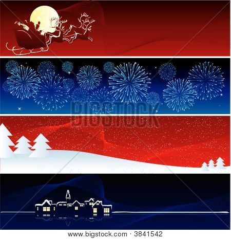 Vector Xmas Banners