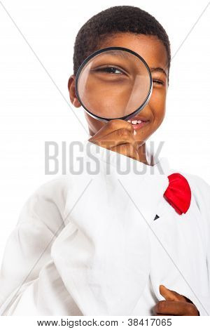 Clever Scientist Child Exploring