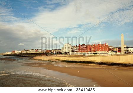 View of the English seaside town, Blackpool.
