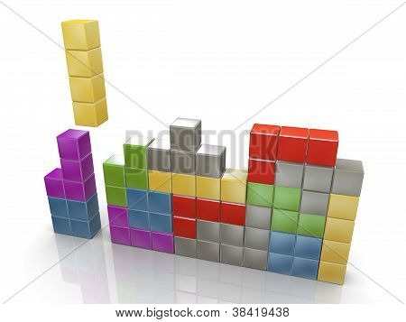 3D Classic Tetris Game
