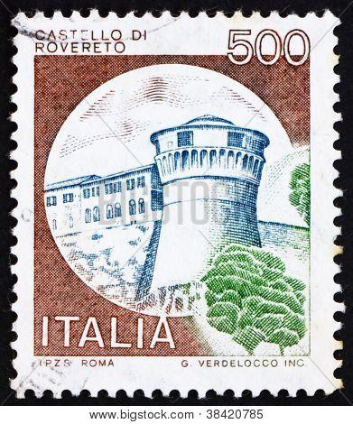 Postage stamp Italy 1980 Castle Rovereto, Trento