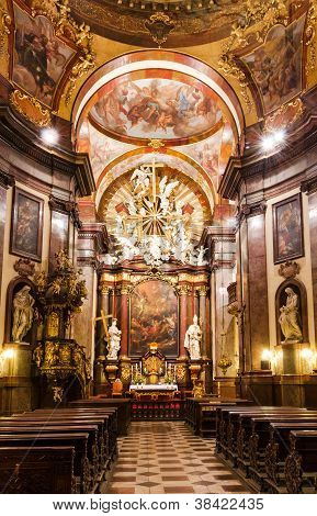 Baroque Interior Of Church Of Saint Francis, Prague