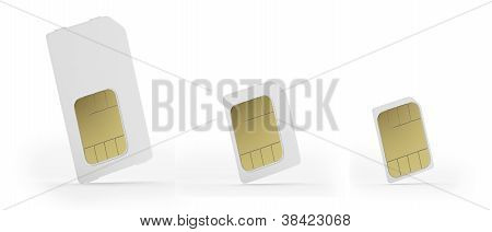 Sim, micro-sim and nano-sim cards