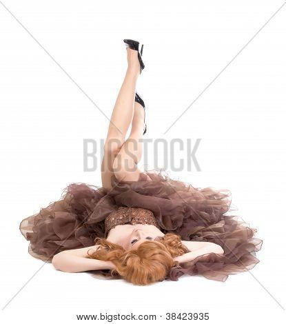 Portrait Of Drag Queen Lying On Floor