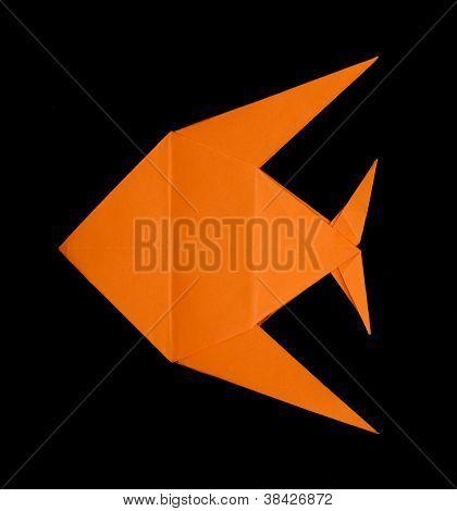Orange Fish Folded Origami