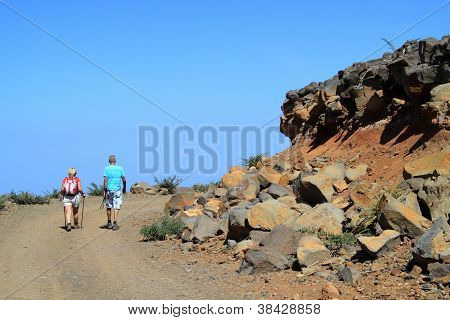 To walk in the volcano area