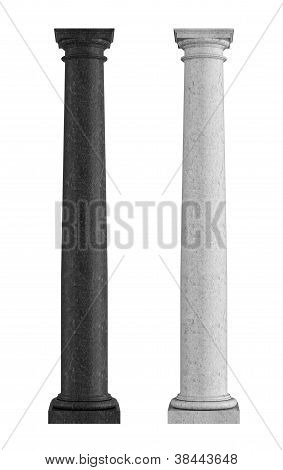 Black And White Marble  Tuscan Column
