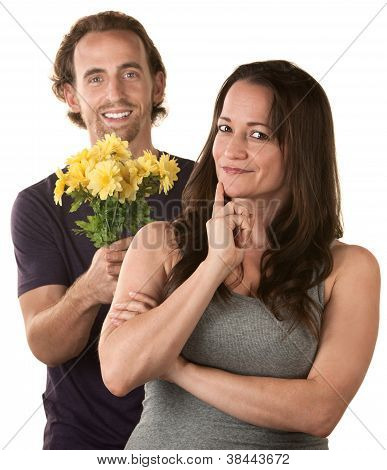 Caucasian Couple Expressing Forgiveness