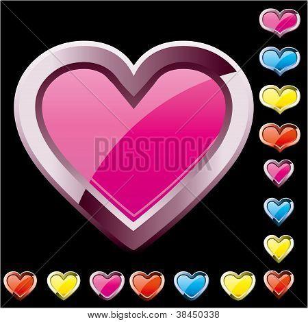 Heart-Buttons