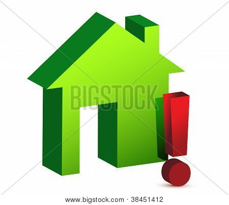 House And Exclamation Sign
