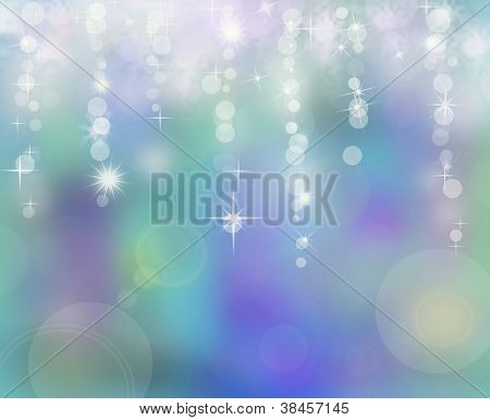 Abstract New Year Background With Shining Garlands