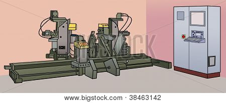 industrial machinery with cabin