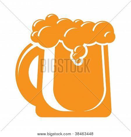 taza de signo icono de cerveza. elemento de diseño