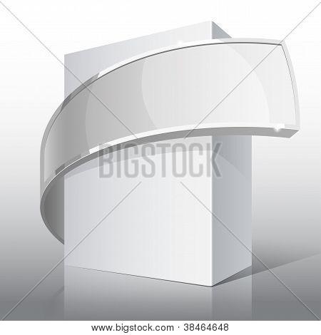 Paquete negro brillante con DVD o disco CD