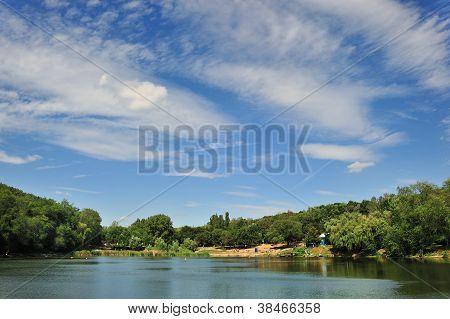 Sky Under City Lake