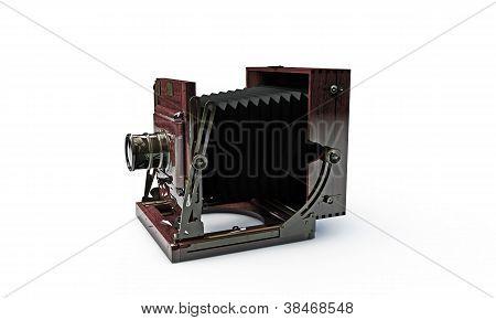 Old Wood Frame Photo Camera