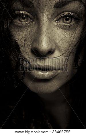 Emotion Expression Dark Girl Face