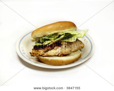 Grilled  Bbq Chicken Breast Sandwich