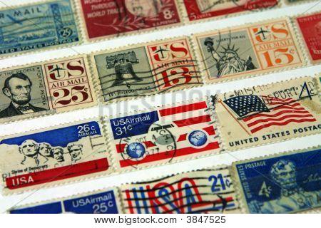 Vintage Us Postage Stamps